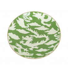 "Green Dragon 11"" Round Bowl, Medium | Gracious Style"