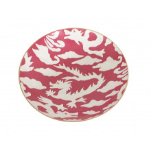 "Pink Dragon 11"" Round Bowl, Medium | Gracious Style"