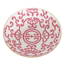 """Pink Sultan 16"""" Round Bowl, Large 