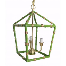 "Green Bamboo 13"" Lantern, Small | Gracious Style"