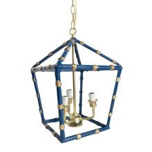 "Navy Bamboo 13"" Lantern, Small | Gracious Style"