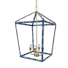 "Navy Bamboo 20"" Lantern Large | Gracious Style"