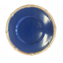 """Navy Bamboo 13"""" Charger 
