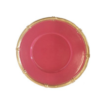 """Pink Bamboo 13"""" Charger 