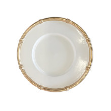 """White Bamboo 13"""" Charger 