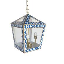 "Tucker 14"" Lantern Navy Parsi | Gracious Style"