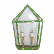 """Bamboo Green 13"""" x 11"""" Sconce 