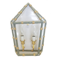 """Bamboo Grey 13"""" x 11"""" Sconce 