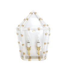 """Bamboo White 13"""" x 11"""" Sconce 