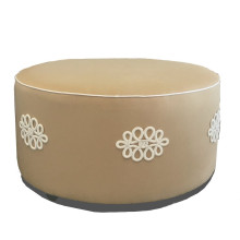 Shang Knot Ottoman Taupe | Gracious Style
