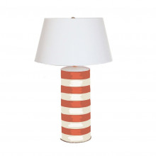 Orange Stripe Stacked Table Lamp | Gracious Style