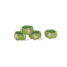 Bamboo Napkin Rings Green/Set of Four | Gracious Style