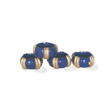 Bamboo Napkin Rings Navy/Set of Four | Gracious Style