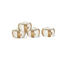 Bamboo Napkin Rings White/Set of Four | Gracious Style