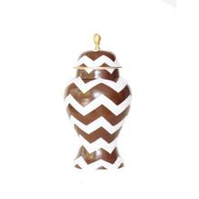 Ginger Jar, Large Brown Bargello | Gracious Style