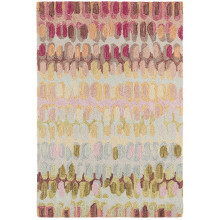 Paint Chip Pastel Micro Hooked Wool Rugs | Gracious Style