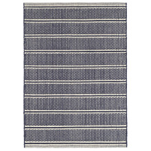 Archer Navy Woven Cotton Rugs | Gracious Style