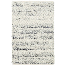 Cobblestone Grey Woven Wool Rugs | Gracious Style