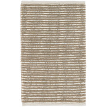 Brushed Stripe Mocha Woven Wool Rugs | Gracious Style