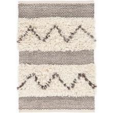 Zags Mocha Woven Wool Rugs | Gracious Style