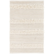 Zhara Stripe Ivory Indoor outdoor Rugs | Gracious Style