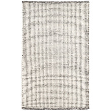 Network Black Woven Wool Rugs | Gracious Style