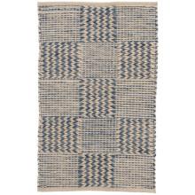 Tiles Blue Woven Jute Rugs | Gracious Style