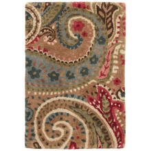 Lyric Paisley Spice Tufted Wool Rugs | Gracious Style