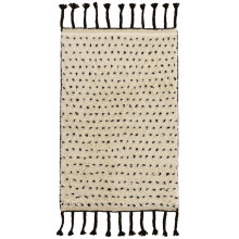 Speck Black Hand Knotted Wool Rugs | Gracious Style
