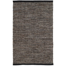 Grant Black brown Woven Cotton Rugs | Gracious Style