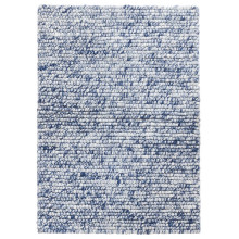 Niels Navy Woven Wool viscose Rugs | Gracious Style