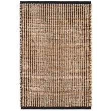 Gridwork Black Woven Jute Rugs | Gracious Style