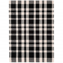 Tattersall Black Indoor outdoor Rugs | Gracious Style