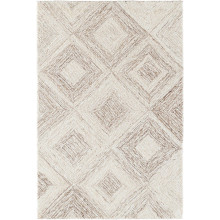 Escher Natural Micro Hooked Viscose wool Rugs | Gracious Style