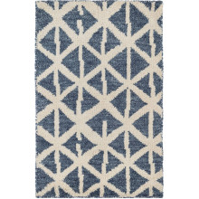 Newport Blue Hand Knotted Wool Rugs | Gracious Style