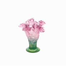 Roses Pink Vase Height 23 Cm | Gracious Style
