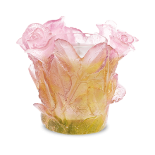 Roses Pink Candleholder Height 8.2 Cm | Gracious Style