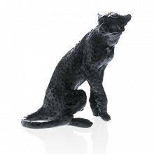 Jean-François Leroy Black Cheetah J.F Leroy Height 28 Cm | Gracious Style