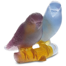 Blue Budgerigars Couple Height 7.5 Cm | Gracious Style