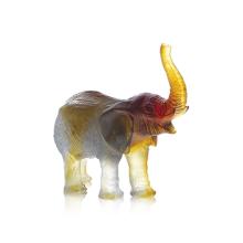 Jean-François Leroy Green Amber Elephant J.F Leroy Height 14.5 Cm | Gracious Style