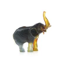 Jean-François Leroy Green Amber Elephant J.F Leroy Height 22.5 Cm | Gracious Style