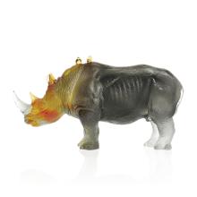 Jean-François Leroy Grey Amber Rhinoceros J.F Leroy Length 43 Cm | Gracious Style