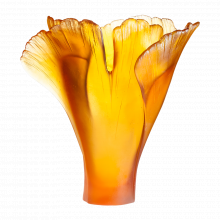 Ginkgo Amber Vase Height 30 Cm | Gracious Style