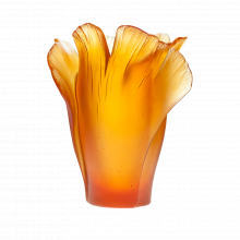 Ginkgo Amber Vase Height 17 Cm | Gracious Style