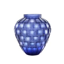 Rhythms Blue Vase Height 28 Cm | Gracious Style