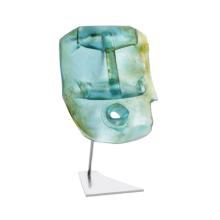 Romuald Hazoumé Oil Head Blue Height 42 Cm | Gracious Style
