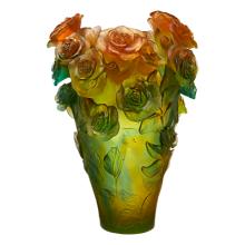 Rose Passion Green & Orange Magnum Vase Height 53 Cm | Gracious Style