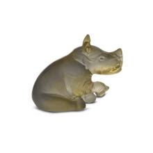 Amber Grey Mini Rhinoceros Height 4.5 Cm | Gracious Style