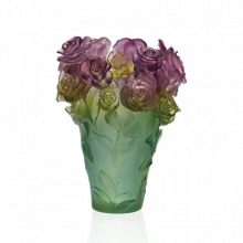 Rose Passion Green & Pink Vase Height 35 Cm | Gracious Style