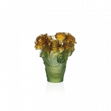 Rose Passion Green & Orange Vase Height 17 Cm | Gracious Style
